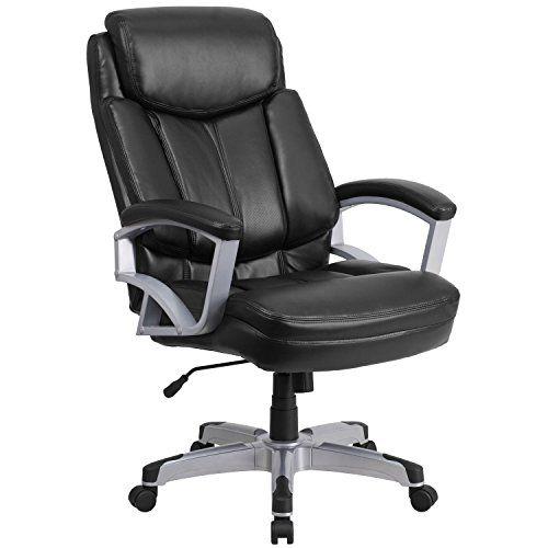 Mfo 500 Lb Capacity Big Amp Tall Black Leather Executive Office Chair Tall Office Chairs Black Office Chair Big Office Chairs