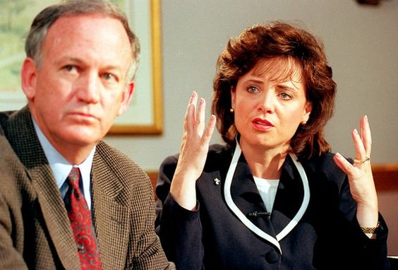 John and Patsy Ramsey.  Patsy had no problem emoting on television but wasn't…