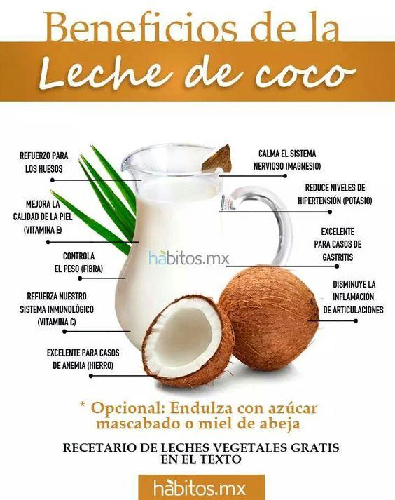 BENEFICIOS DE LA LECHE DE COCO. Compro crema de coco
