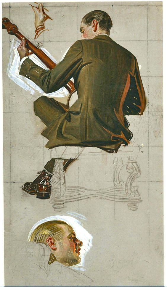 J.C. Leyendecker sketches RePinned from Will Weston // i??? this art style is great