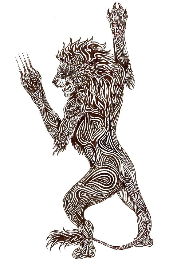 Lion Tattoo Design - see more designs on http://thebodyisacanvas.com