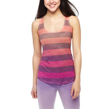 Arizona Dip-Dyed Striped Tank Top - jcpenney