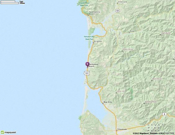 Rockaway Beach, OR Map   MapQuest