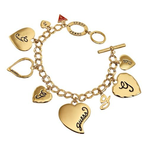 Guess Charm Armband Multi Heart Gold. #guess #gold #jewelry #schmuck #love