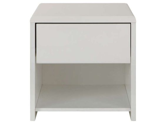 Table de chevet blanc laqu alinea table de lit - Table de chevet lumineuse alinea ...