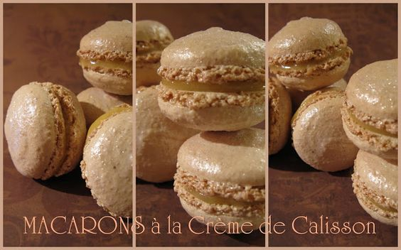 Macarons à la crème de calisson