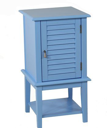 High 30 Shutter Door Accent Storage Table Crafted Of Mdf