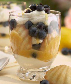 Lemon blueberry triffles recipe