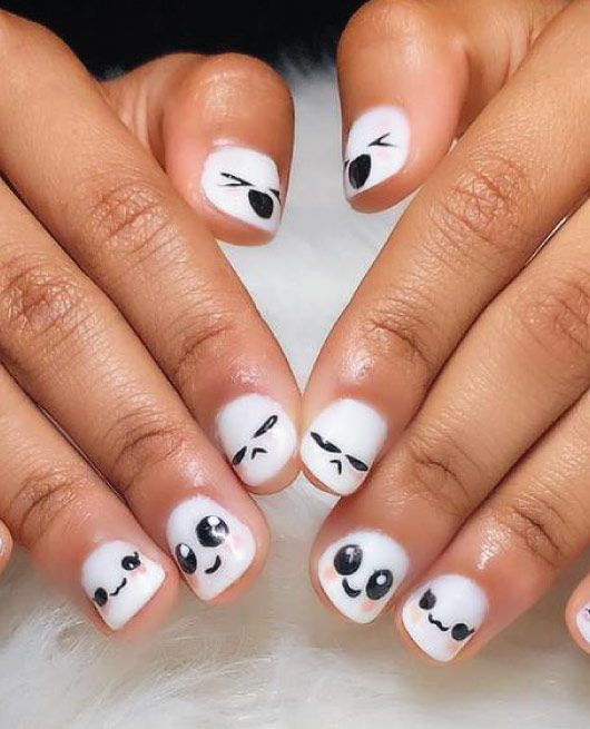 Cute Emoji Nail Ideas Perfect For Summer Mycuteoutfits Nails Emoji Emoji Nails Nail Art Designs Nail Art