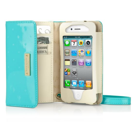 kate spade new york Larabee Dot Wristlet for iPhone 4 - this is awesome! Need in black... :)