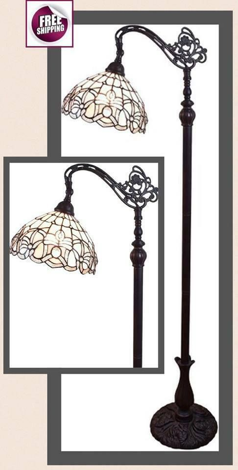 Deluxe Tiffany Style Floor Lamp Light Shade Glass Mosaic Torchiere Vintage New Tiffany Lamps Ideas Of T In 2020 Tiffany Style Floor Lamps Floor Lamp Lighting Lamp