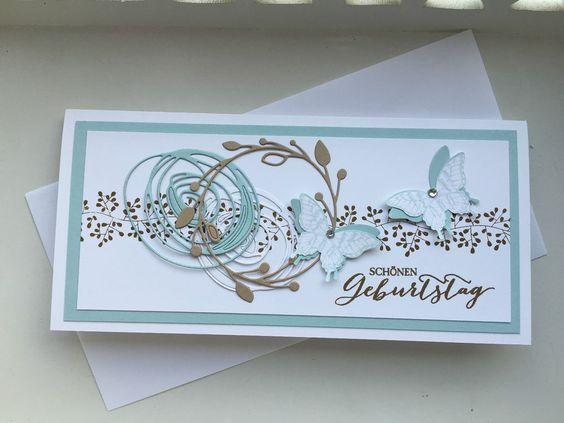 Geburtstagskarte Unikat  3 D Stampin Up Handarbeit