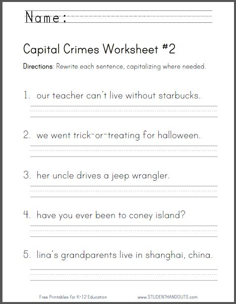 capital crimes worksheet 2 common core for second grade primary grades pinterest crime. Black Bedroom Furniture Sets. Home Design Ideas