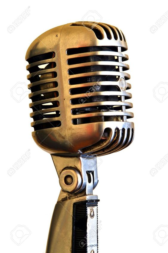 Fancy Vintage Microphone On A White Background Stock Photo Picture And Vintage Mic Pinterest Vintage microphone and Photography