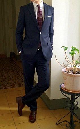 Navy Blue Burgundy Suit Wedding Stuff Pinterest Blue