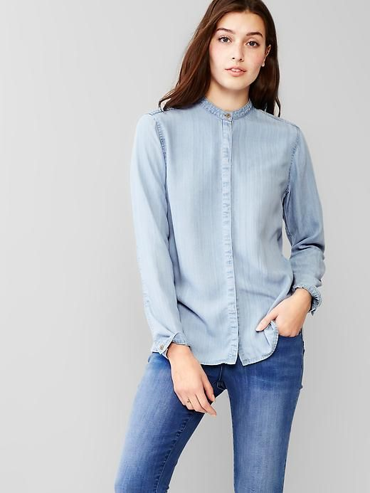 Collarless Shirt Womens | Is Shirt