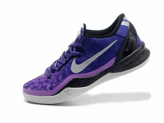 Nike Kobe 8 Violet Noir Blanc Basket Enfants | NIKE | Pinterest | Kobe,  Violets and Nike basketball