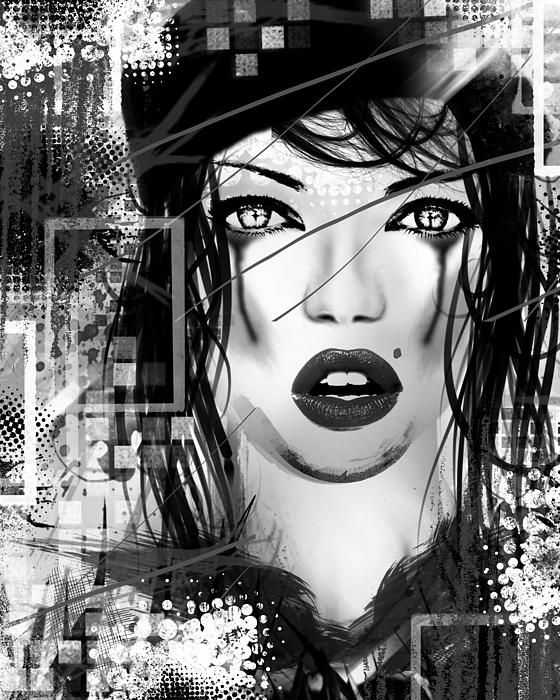 Tough Love Black by Melissa Smith.  #UrbanArtDistrict