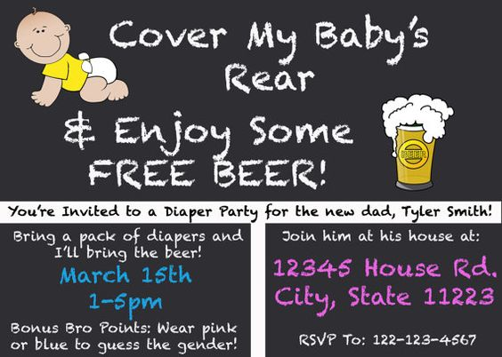 1000+ ideas about Diaper Party Invitations on Pinterest ...