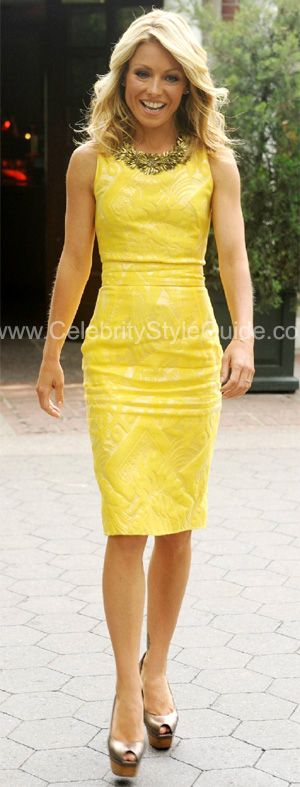 Big  yellow dress look