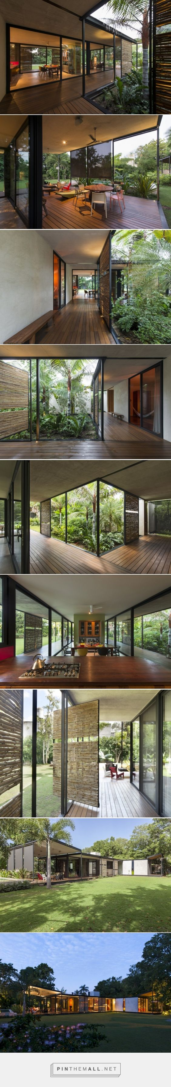 reyes ríos + Larraín arquitectos constrói Casa itzimná no México ... - uma imagem de imagens agrupadas - Pin Them All