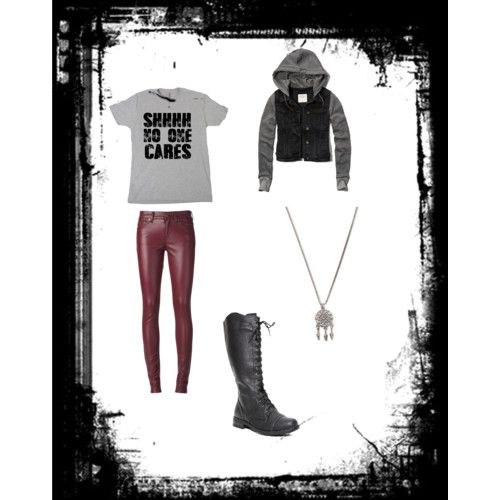 No one cares by ryebehrens on Polyvore featuring polyvore fashion style Abercrombie & Fitch Yves Saint Laurent With Love From CA