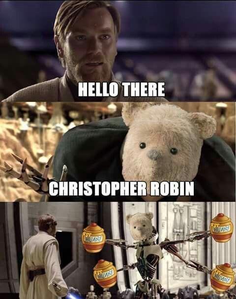 Obi Wan Meme. Pooh Bear Meme. Prequel Meme. #starwarsmemes in 2020 | Funny  star wars memes, Star wars memes, Star wars facts