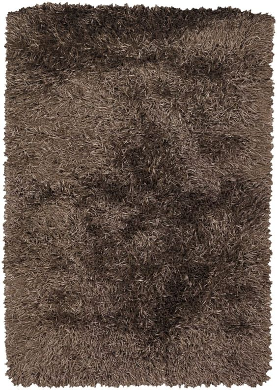 Chandra Rugs Tirish 19307 Taupe Polyester Shag Area Rug Hand Woven in India with 9 x 13 Home Decor Rugs Rugs
