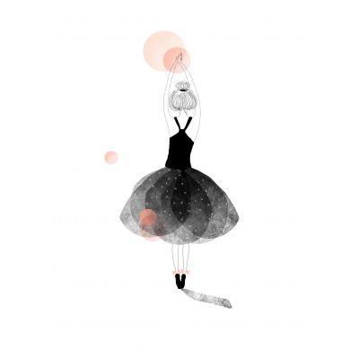 Affiche Ballerine (rose)