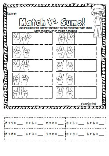 math worksheet : addition memory match game  cut and paste worksheets  cut and  : Addition Counting On Worksheets