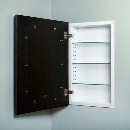 14x24 Black Mirrored Medicine Cabinet By Fox Hollow Furnishings Black Medicine Cabinet Medicine Cabinet Mirror Black Mirror