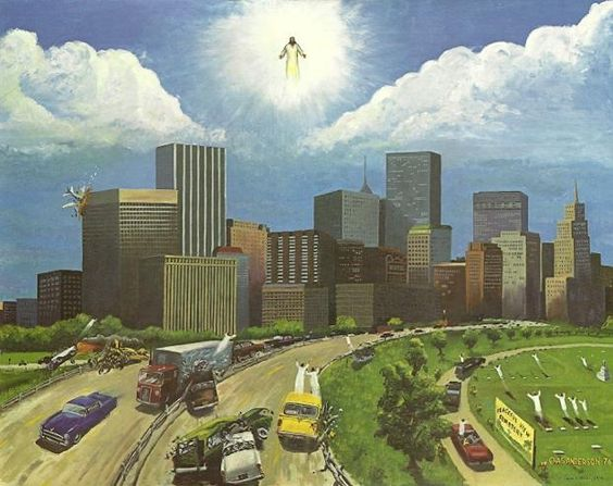 Charles Anderson - Rapture - 1974. Commissioned by Leon Bates of the Bible  Believers' Evangelistic Association (Texas). Over 3 million reproductions have been distributed.