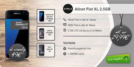 2,5GB OTELO Allnet Flat XL für 29,99€ mit TOP Smartphone ab 1€ http://www.simdealz.de/vodafone/otelo-allnet-flat-xl-mit-2-5-gb/