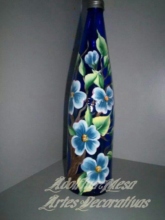 Botella pintada en multicarga