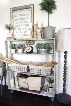 DIY Rolling Bookshelf - | Bookshelves, Living Room Kitchen and Kitchen Dining Rooms