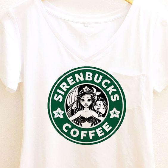 Sirenbucks Coffee Shirt   The Little Mermaid   Ariel