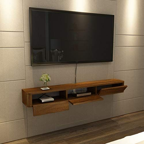 Wall Mounted Floating Tv Stand Media Console Modern Storage Cabinet With Sliding Doors Living R In 2020 Living Room Tv Entertainment Shelves Tv Stand Decor Living Room