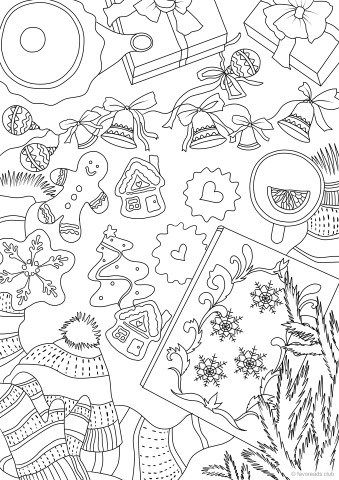 Christmas Cookies Christmas Coloring Pages Coloring Pages Printable Christmas Coloring Pages