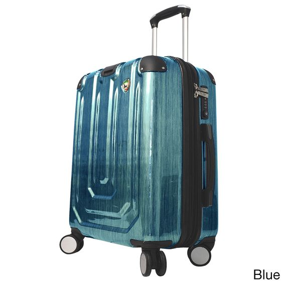 Mia Toro Italy Spazzolato Metallo 20-inch Hardside Spinner Carry-on Suitcase