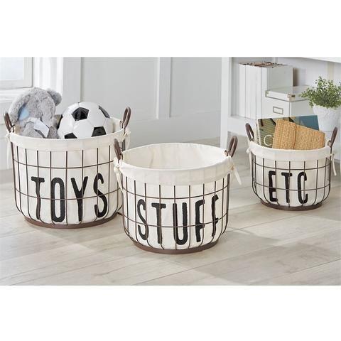 Wire Storage Basket Set Wire Basket Storage Toy Basket Storage Baskets