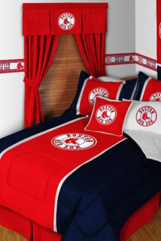 Boston Redsox bedspread