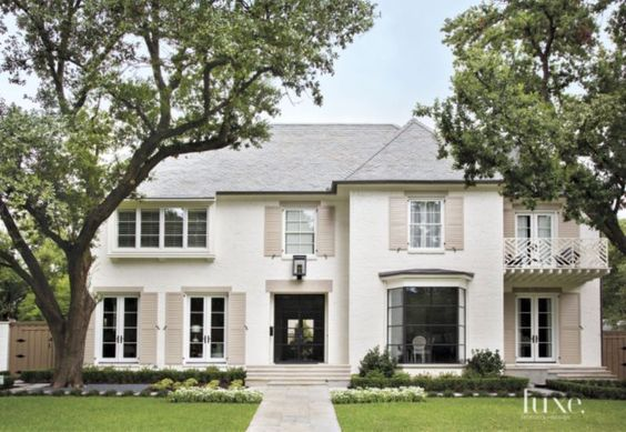 A White Painted Brick Dallas Residence Exudes Southern