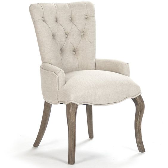 Iris Natural Linen Reclaimed Oak Tufted Vanity Dining Chair with Ring ($780) ❤ liked on Polyvore featuring home, furniture, chairs, dining chairs, linen chair, tufted linen dining chair, oakwood furniture, oak wood furniture and oak chairs