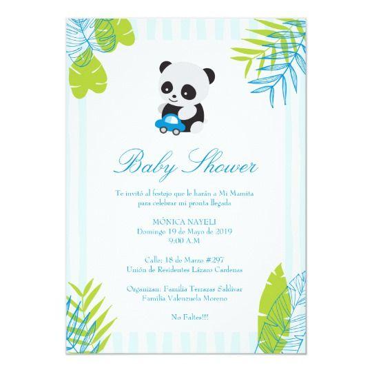 Invitacion Linda De Baby Shower Del Muchacho De La Zazzle Com Invitaciones Baby Showers De Pandas Y Baby Shower