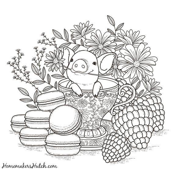 printable tea cup coloring pages - photo#34