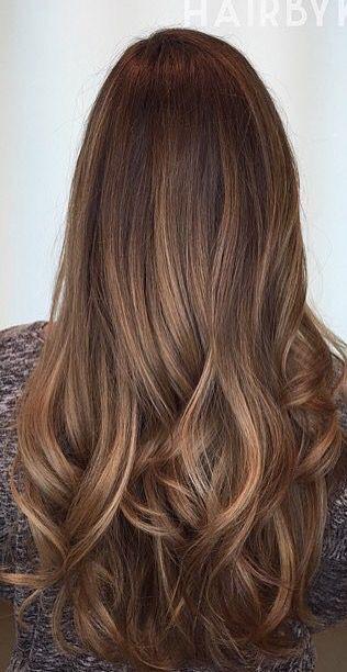 Brown Hair With Golden Caramel Highlights Balayage Http