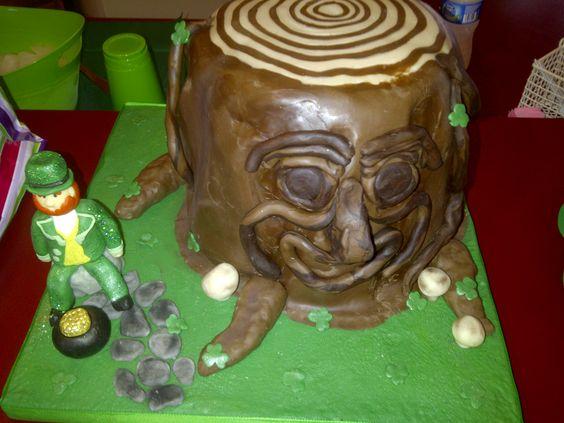 St Patrick's day cake. Chocolate leprechaun