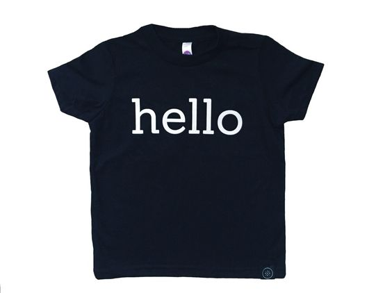 Inspired by the Beatles' song and perfect for kids that are always coming and going.Printed on American Apparel fine jersey short sleeve tee in black // Fine jersey (100% cotton) • Durable rib neckband • UnisexMachine wash cold, inside out on gentle cycle. Line dry or tumble dry low.Graphic size/placement will vary depending on size of garment.