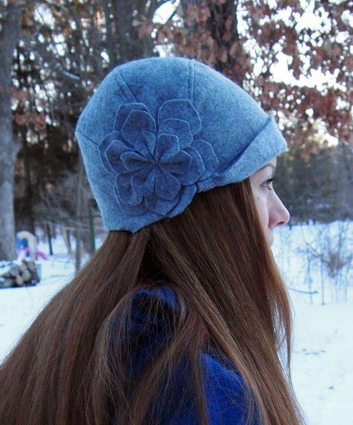 Фетровая шапка- шляпка