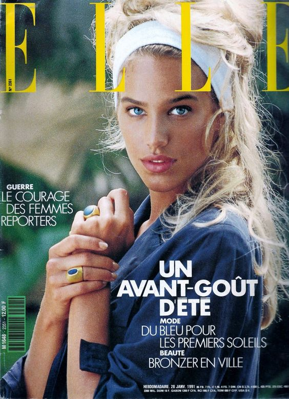 Emma Sjoberg by Marc Hispard, 1991- Elle France
